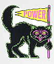 N°Hours Power Black Cat pegatina