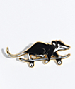 N°Hours Skate Rat Black & Gold Pin