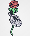 N°Hours Skeleton Hand & Rose pegatina