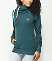 Naketano Darth Dirty Deep Blue Green Hoodie
