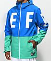Neff Daily 10K chaqueta azul y verde