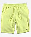 Neff Flow shorts de punto en color amarillo
