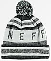 Neff NAFC gorro en negro, gris , y color plateado con pompón