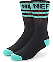 Neff Promo Black & Teal Crew Socks
