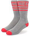 Neff Promo Charcoal & Red Crew Socks