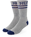 Neff Promo Grey & Navy Crew Socks