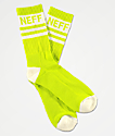 Neff Promo Neon Lime Crew Socks