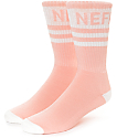 Neff Promo Peach & White Crew Socks