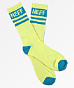 Neff Stripe calcetines de color limonada y cian