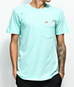 Neff Unicorn Pocket Mint T-Shirt