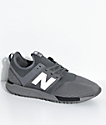 New Balance Lifestyle  247 Classic zapatos malla negra y gris