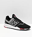 New Balance Lifestyle 247 V2 zapatos negros, grises y blancos