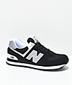 New Balance Lifestyle 574 Black & White Shoes