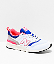 New Balance Lifestyle 997H zapatos blancos, azul lazer y rosa