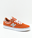 New Balance Numeric 255 Apricot, Grey & White Skate Shoes