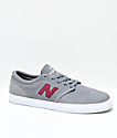 New Balance Numeric 345 Grey & Burgundy Skate Shoes