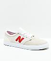 New Balance Numeric 345 zapatos de skate en blanquecino y rojo