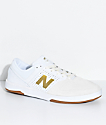 New Balance Numeric PJ Stratford 533 V2 White & Gold Skate Shoes