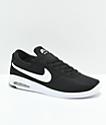 Nike Air Max Bruin Vapor zapatos skate en negro y blanco