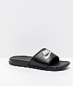 Nike Benassi White Logo Black Slide Sandals