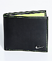 Nike Color Blocked Bi-Fold Black & Yellow Wallet