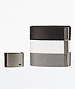 Nike Essentials 3 Pack Grey, White & Black Web Belts