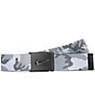 Nike Graphic Camo cinturón tejido reversible en blanco y gris