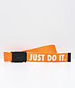 Nike Just Do It cinturón tejido naranja