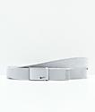 Nike Metallic Silver Web Belt
