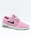 Nike SB  Janoski Air Max Elemental zapatos de skate rosas para niños