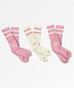 Nike SB 3 Pack Pink & Grey Crew Socks