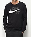 Nike SB Backwards Black Long Sleeve T-Shirt