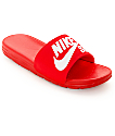Nike SB Benassi SolarSoft Red & White Slides