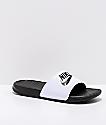 Nike SB Benassi White & Black Slide Sandals