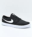 Nike SB Boys Portmore II Ultralight Black & White Skate Shoes
