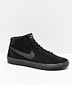 Nike SB Bruin Hi All Black Skate Shoes