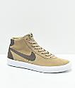 Nike SB Bruin Hi Khaki & White Skate Shoes