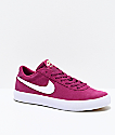 Nike SB Bruin Low True Berry & White Skate Shoes