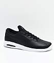 Nike SB Bruin Vapor Air Max Black & White Leather Skate Shoes