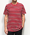 Nike SB CTN camiseta roja de rayas