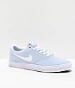 Nike SB Check Solarsoft Light Blue & White Skate Shoes