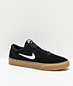 Nike SB Chron Black & Gum Skate Shoes