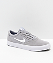 Nike SB Chron SLR Wolf Grey & White Skate Shoes