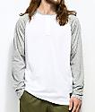 Nike SB Dri-Fit White Henley Long Sleeve T-Shirt