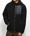 Nike SB Everett Sherpa Black Zip Hoodie