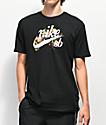 Nike SB Floral Old School Logo camiseta negra