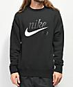 Nike SB Icon Craft sudadera negra con cuello redondo