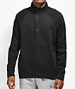 Nike SB Icon Half Zip Black Mock Sweatshirt