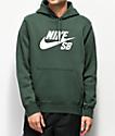 Nike SB Icon Midnight sudadera con capucha verde