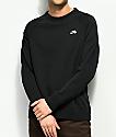 Nike SB Icon sudadera negra con cuello redondo